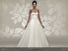 BEO Creations: Wedding dress 28 V2 • Sims 4 Downloads