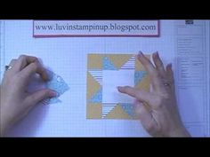cardmaking video tutorial: Episode 62 Star Quilt Block Card