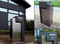 modern mailbox ideas stainless steel minimalist
