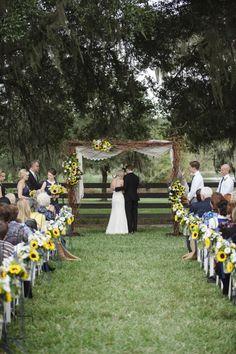 Rustic Wedding. not sunflowers