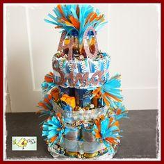 Große Prosecco - Torte zum 40. Geburtstag - DIY Geschenk Idee gift idea for birthday - champagne cake