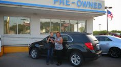 First happy June customer driving home in her Chevrolet Equinox. Exactly what she was looking for