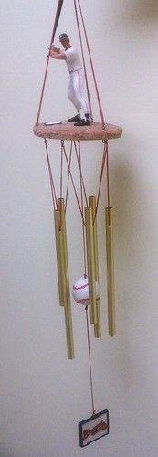 Windchime Atlanta Braves Baseball Wind Chime...seriously!? This is soo cute! Pinned for my sis