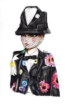 Illustration.Files: Thom Browne S/S 2015 Fashion Illustrations by Olivai Au
