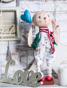 Купить Святой Валентин - заяц, заяц игрушка, тыквоголовка, влюбленные, валентинка, валентинов день, сердце