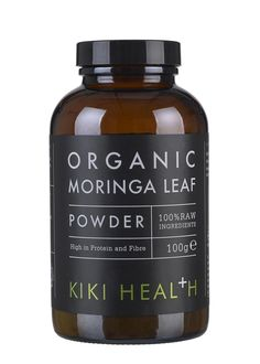 KIKI's Organic Moringa Leaf Powder is a rich source of plant protein and fibre. The Moringa Tree is known as the 'Miracle Tree' for its many health benefits, and its small leaves are packed with an incredible amount of nutrition, including eight essential amino acids. This nutrient-dense superfood has a pleasant, earthy, spinach flavour often described simply as green and flavoursome. Moringa Leaf Powder adds a powerful health kick to your smoothies and juices. Certified Organic. Suitable…