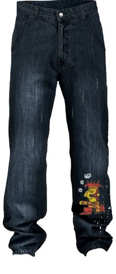 Custom distressed faded embroidered mid rise jeans, featu...