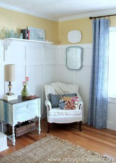 French Fabulous Cabinet Makeover - Room #chalkpaint -artsychicksrule.com