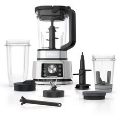 Ninja   Foodi Power Pitcher System Blender - Ninja's Foodi Power Pitcher System Blender features Total Speed Control with smartTORQUE™ to power through thick ingredients. This countertop blender includes the blender, bowl maker, food processor, and dough mixer. Smoothie Blender, Smoothie Bowl, Smoothies, Blender Food Processor, Food Processor Recipes, Safe Cleaning Products, Cleaning Wipes, Blender Ice Cream, Sandwich Bread Recipes