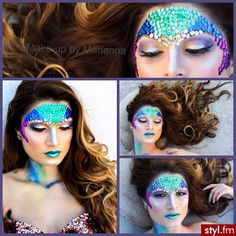 #halloween #make up #mermaid #costume