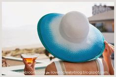 Spray Dye Beach Hat