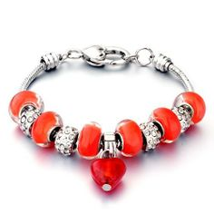 Pugster Red Beads Dangle Heart Fits Pandora Chamilia Biagi Charm Gift Murano Glass Bracelet For Women Pugster. $49.99. Great to give away as presents, gifts to friends or family members.. Stunning Colorful Murano Glass Style Designer Fashion bracelet. Handmade in China in the VenetianáMuranoáStyle. Free Jewerly Box.. Money-back Satisfaction Guarantee
