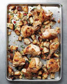 Inside-Out Chicken and Stuffing | One Sheet Pan Supper
