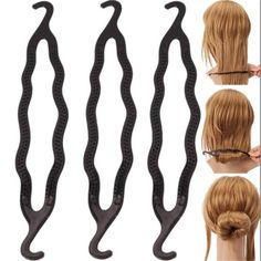 Find More Hair Jewelry Information about 3PCS Women Magic Braiders Hair Styling Twist Styling Clip Stick Bun Maker Braid Tool Black Barrette Accessories,High Quality accessories hair clip,China hair bun accessories Suppliers, Cheap hair accessories chain from imixlot on Aliexpress.com