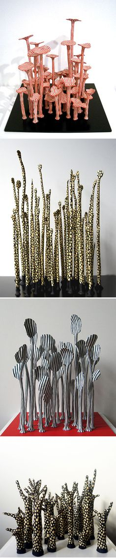 Vera Moller...click on picture to see these cool ceramic pieces displayed in a natural setting...=}