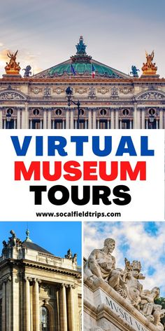Many major museums around the world offer the ability for the public to see works in their collections online through what's called a virtual museum tour! The museum allows visitors to take self-guided, room-by-room tours of select exhibits and areas within the museum from their desktop or mobile device. And the best part of all, it won't cost you a dime! #homeschooling #homeschool #homeschoolschedule #virtualfieldtrips #onlinelearning #homeschoollife #schoolathome #homeschoolactivities Social Studies Resources, Teacher Resources, What's Called, Virtual Museum Tours, Virtual Field Trips, Virtual Travel, Family Travel, Travel Inspiration, Public