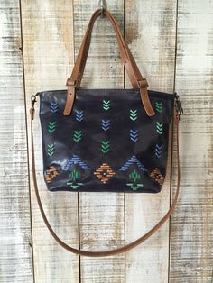 This navy blue leather bag its the perfect accessory for a basic outfit. It is…