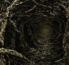 Vórtices interdimensionales hechos de miles de cuerpos desnudos by Angelo Musco