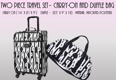 Every conservative girl could use a set of new travel gear. Whether you are going away to college, away for the holidays, or traveling out of state on business this luggage set rocks! Free cosmetic case with purchase.