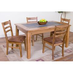 Sedona x Slate Top Rectangular Table by Sunny Designs at Sparks HomeStore & Home Furnishings Direct Furniture Dining Table, Dining Table Design, Oak Table, New Furniture, Kitchen Furniture, Dining Tables, Furniture Online, Furniture Design, Kitchen Dining Sets