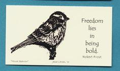 Magnet. Birds. House sparrow block print by Jesse by JessePrints