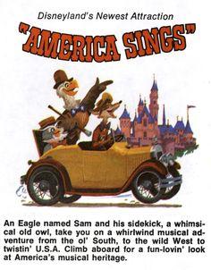 America Sings Old Disney, Disney Fun, Disney Stuff, America Sings, Disney Illustration, Disney Rides, Vintage Disneyland, Disney Posters, Disney Facts