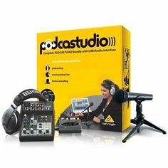Behringer offers the most complete USB podcast package on the market - with microphone, mixer, USB interface, high quality headphones, and complete software package. Windows Xp, Usb, Karaoke, Tag Pin, Podcast Setup, Podcast Ideas, High Quality Headphones, Software, Walmart