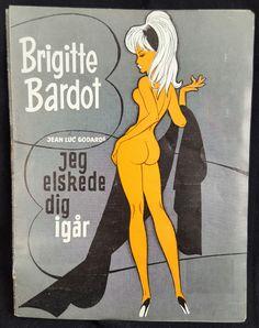 Original 1963 Le Mepris Contempt Danish Herald Movie Poster Brigitte Bardot Sexploitation Bad Girl Pin Up