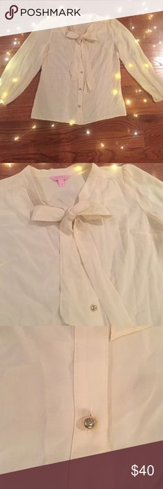 LILLY PULITZER TOP Beautiful champagne yellow color. Make an offer! Lilly Pulitzer Tops Blouses