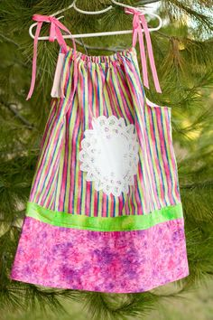 Girls Pillow Case Dress by Urbansoulboutique on Etsy, $18.00