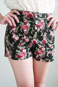 ❤ Floral Shorts