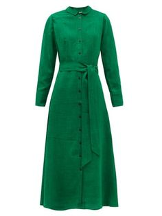 Shop our edit of women's designer Dresses from luxury designer brands at MATCHESFASHION Green Shirt Dress, Calf Length Skirts, Structured Bag, Daily Dress, Dress Hats, Modest Outfits, Designer Dresses, Dresses For Work, Long Dresses