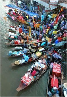 Photo Marché flottant, Amphawa, Thailande