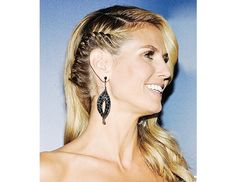 @byrdiebeauty - Heidi Klum  First Jessica Alba, now Heidi Klum—we predict this cool-girl braid is going to be the next big trend in hair. (Hairstylist Rebekah Forecast is responsible for this bad-ass look.)