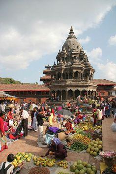 Patan, Market at Durbar Square, Nepal