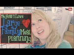 Large Family Meal Planning for the Month | Free Homeschool Deals ©