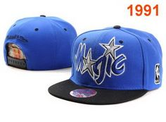 Mitchell & Ness NBA Orlando Magic Blue Black Snapbacks 1112 So Charming