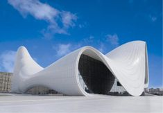 The avant-garde Heydar Aliyev Center in Baku, is regarded as one of Zaha Hadid's most important achievements in design by the late architect herself. Take a look at Hadid's most compelling designs at ig. Zaha Hadid Architecture, Architecture Unique, Futuristic Architecture, Folding Architecture, Russian Architecture, Classical Architecture, Landscape Architecture, Unusual Buildings, Interesting Buildings