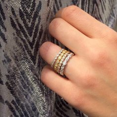 Sparkle and shine! Diamond rings by JJ Marco