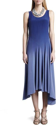 Eileen Fisher Ombre Silk Long Dress, Sapphire