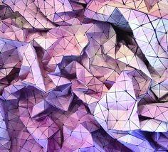 Designers criam tecidos com efeitos tridimensionais inspirados nas dobraduras de origamis - Stylo Urbano