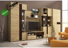 Bergamo Sonoma Oak, Room Closet, Tv Cabinets, Catania, Wall Shelves, Shelf, Interior Design Living Room, Tall Cabinet Storage, Furniture