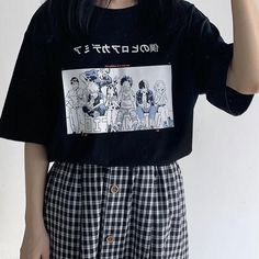 Anime Boku No Hero Academia T Shirt Bakugou Midoriya Iida My Hero Academia School T Shirt Cosplay Costume Cartoon T Shirt Girls Tumblr Outfits, Edgy Outfits, Anime Outfits, Grunge Outfits, Fashion Outfits, Fashion Quiz, 90s Grunge, Modest Fashion, Fashion Art