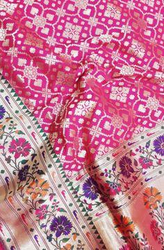 Pink Handloom Banarasi Katan Silk Saree Bridal Silk Saree, Soft Silk Sarees, Saree Wedding, Saree Designs Party Wear, Party Wear Sarees, Bengali Saree, Indian Sarees, Yellow Saree, Sari Dress
