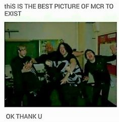 Why is Mikey getting bullied in like half of the pics of MCR I see? But this is a pretty good picture Emo Band Memes, Mcr Memes, Emo Bands, Music Bands, Mcr Quotes, Music Stuff, My Music, Music Life, Mikey Way