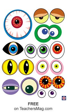 Using these free monster printables your class can make all kinds of wild monsters! Halloween Crafts For Kids, Halloween Decorations, Moldes Halloween, Monster Crafts, Monster Eyes, Monster Party, Toddler Crafts, Preschool Activities, Diy For Kids