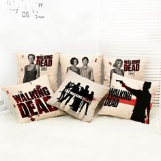 The Walking Dead breathable cotton pillow cover sofa cushion backrest car decoration (excluding internal core) //Price: $9.95 & FREE Shipping //     #thewalkingdead