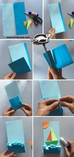 Boats and buoyancy unit art connection. Diy For Kids, Crafts For Kids, Arts And Crafts, Sea Crafts, Paper Crafts, Bird Crafts, Art N Craft, Boy Craft, Kindergarten Art