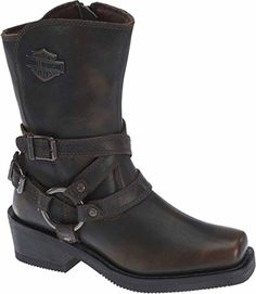 HarleyDavidson Womens Ingleside 85Inch Motorcycle Boots D87092 Brown 95 * Read more  at the image link.