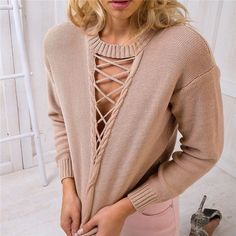 """Item Type: Tops Pattern:Solid Color Collar: Round Neck Sleeve Length:Long Sleeve Color: Black, Khaki Size: XS (US size) Bust: 31-33"""", Waist: 23-25"""", Hips: 33-35"""" S (US size) Bust: 33-35"""", Waist: 25-27"""